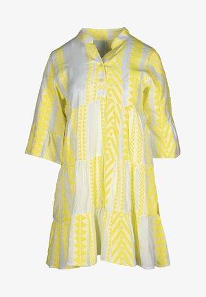 AMALIA - Shirt dress - gelb