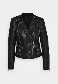 Diesel - L-IGE-NEW - Leather jacket - black - 4