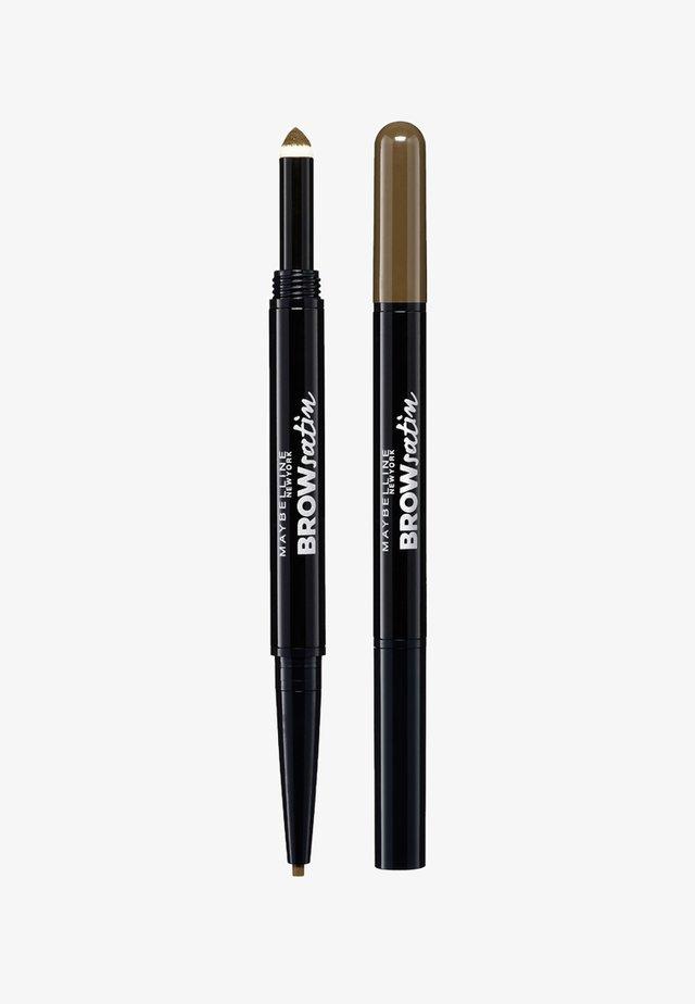 BROW SATIN DUO - Eyebrow pencil - medium brown