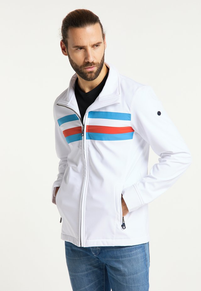 Light jacket - weiss retroblau