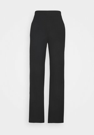 CLARA TOUSERS - Trousers - black