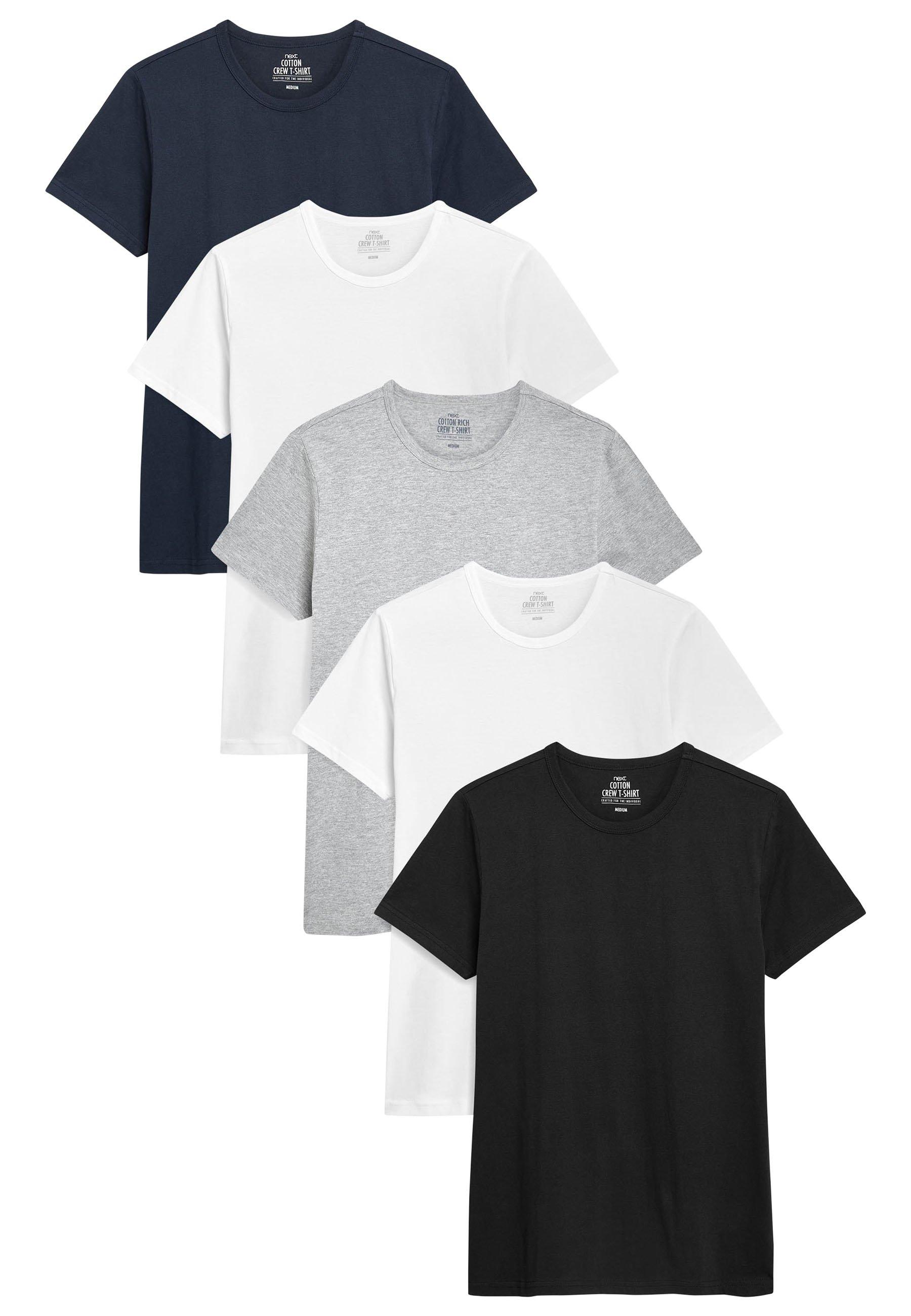 Uomo FIVE PACK - T-shirt basic