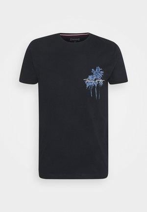 PALM BOX PRINT TEE - T-shirt med print - desert sky
