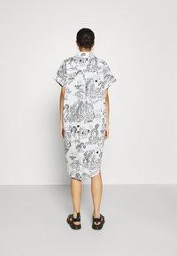 Monki - Shirt dress - white light - 2