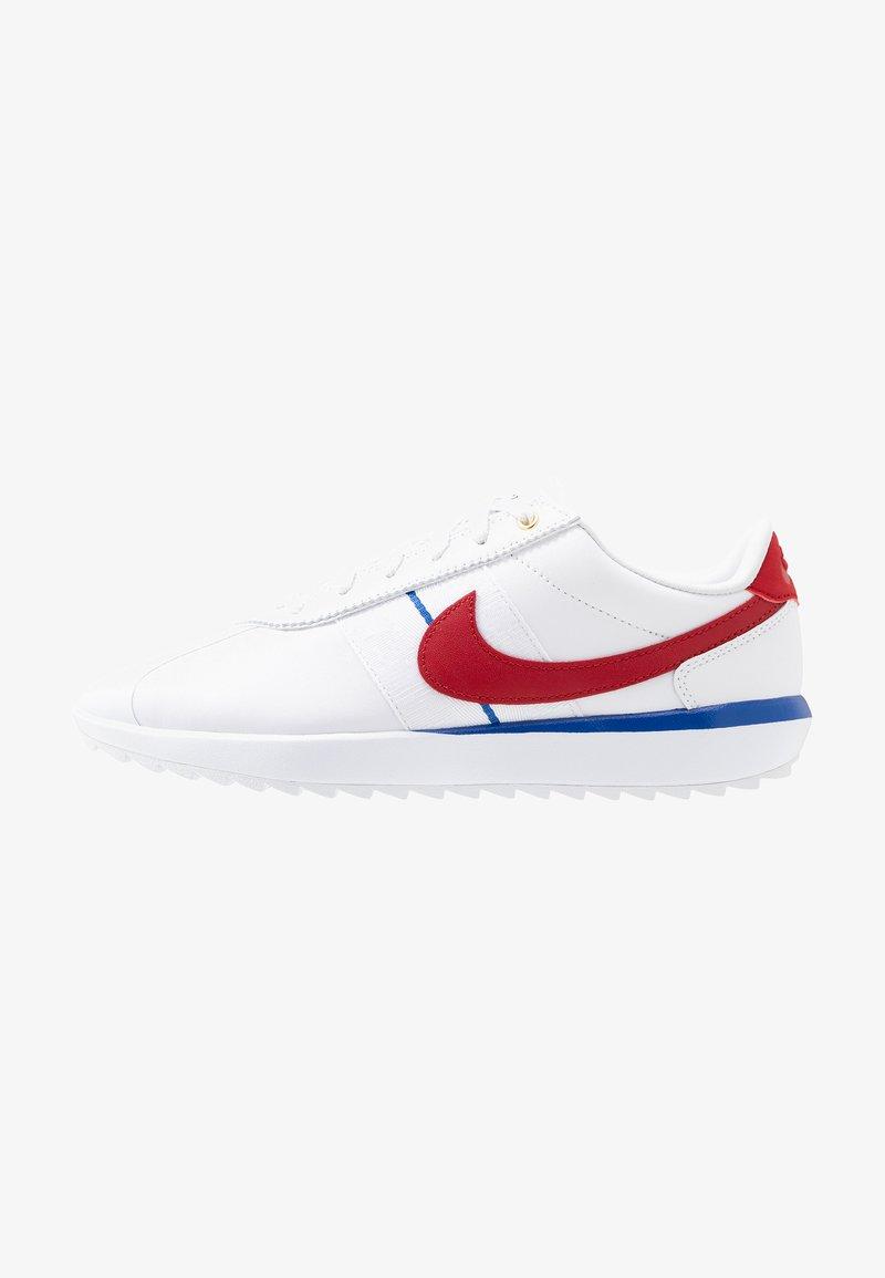 Nike Golf - CORTEZ - Golf shoes - white/varsity red/varsity royal