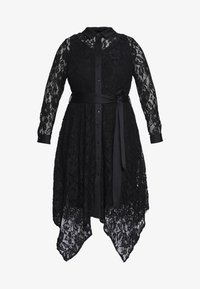 Live Unlimited London - HANKY HEM DRESS - Vestido camisero - black - 5