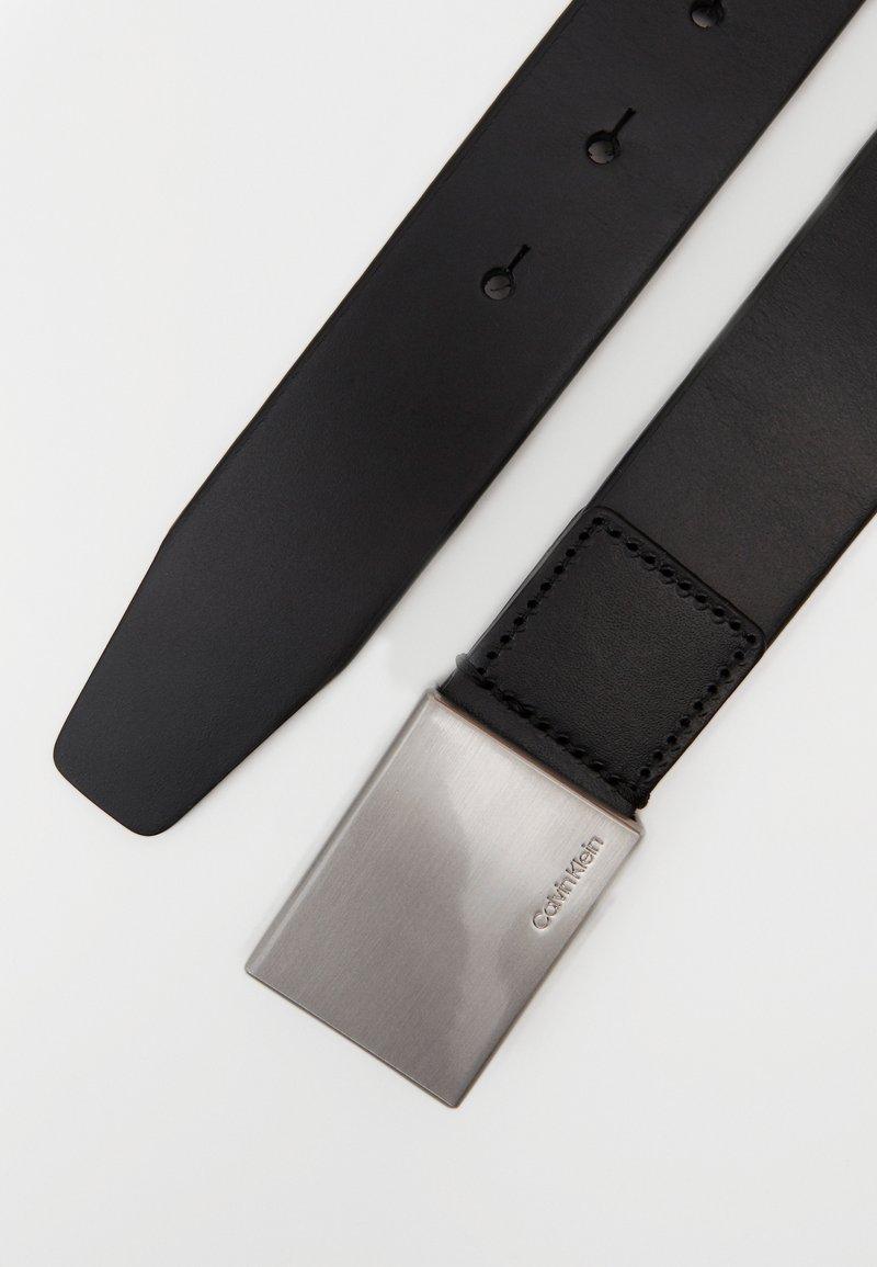 Calvin Klein - FORMAL PLAQUE BELT - Skärp - black