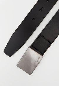 Calvin Klein - FORMAL PLAQUE BELT - Belt - black - 1