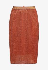 Sheego - Pencil skirt - rostorange - 4