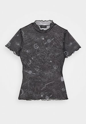 T-shirt med print - black/white