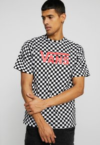 Vans - CLASSIC - Print T-shirt - black/white - 0