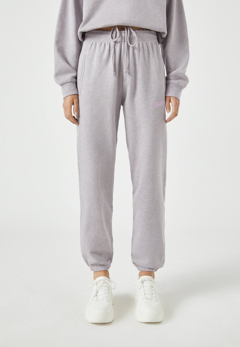 PULL&BEAR - Teplákové kalhoty - mauve