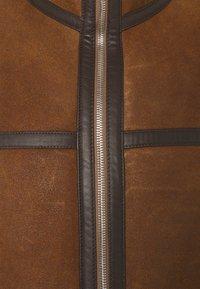 PS Paul Smith - JACKET - Veste en cuir - brown - 2