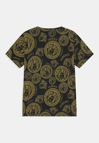 Versace - MEDUSA PRINT UNISEX - Print T-shirt - black/gold - 1