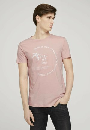 Print T-shirt - soft peach skin