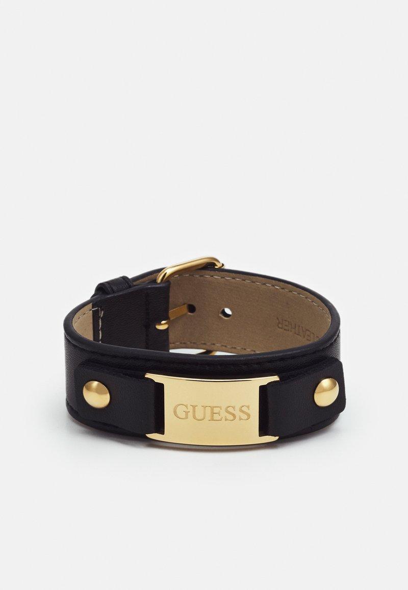 Guess - ROCK MY HEART LOGO PLAQUE - Pulsera - gold-coloured/black