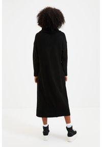 Trendyol - PARENT - Gebreide jurk - black - 1