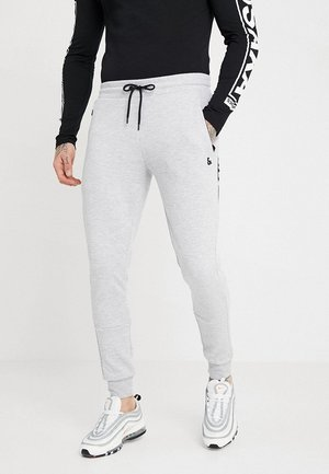 JJIWILL JJCLEAN PANTS - Tracksuit bottoms - light grey melange