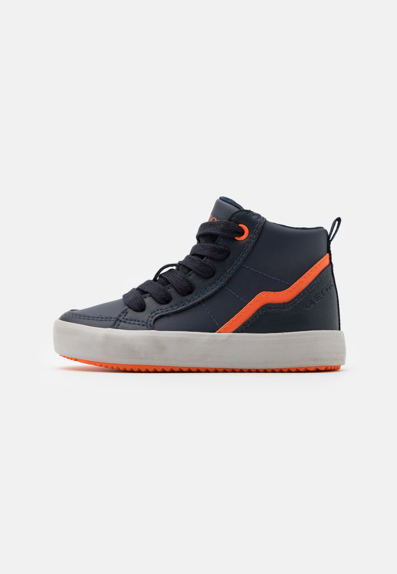 Geox - ALONISSO BOY - Sneakersy wysokie - navy/orange