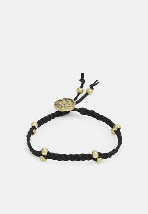 MOUNTAINOUS PLAITED BEAD BRACELET - Rannekoru - black