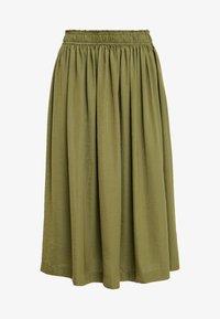 Rosemunde - Áčková sukně - martini olive - 4