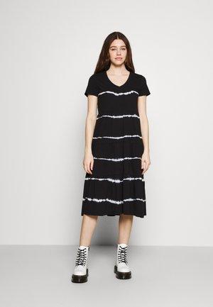NMBUSTER TIE DYE DRESS - Jersey dress - black