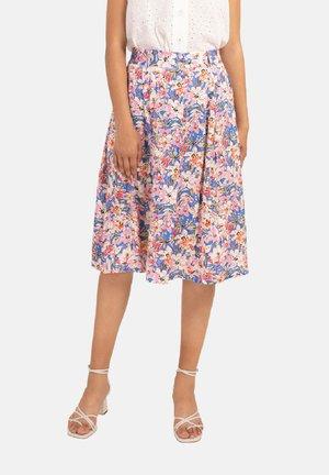 ERNESTA - A-line skirt - blue