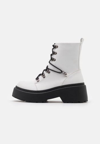 JACKSON - Lace-up ankle boots - white