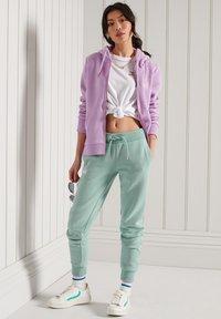 Superdry - ORANGE LABEL - Zip-up sweatshirt - lavender marl - 0