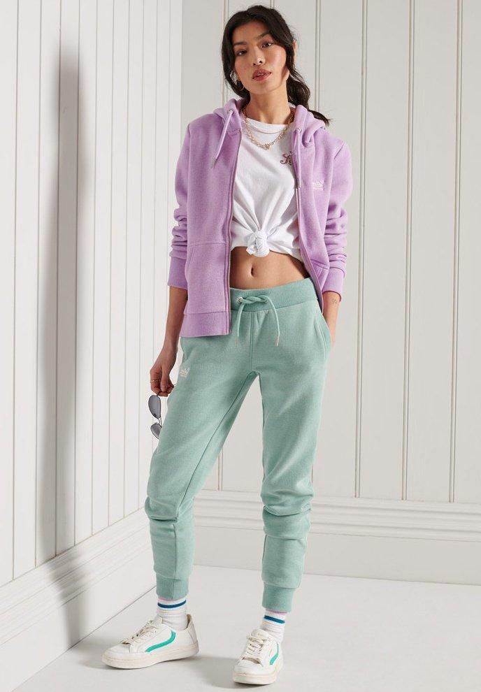 Superdry - ORANGE LABEL - Zip-up sweatshirt - lavender marl