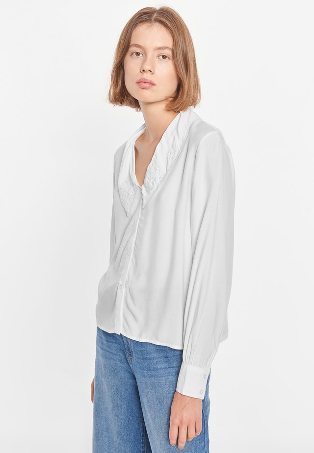 Overhemdblouse - 002 snow white / off white