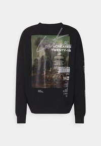 The Couture Club - OVERSIZED CREW WITH OIL-PAINT STYLE ART PRINT - Hoodie - black - 7