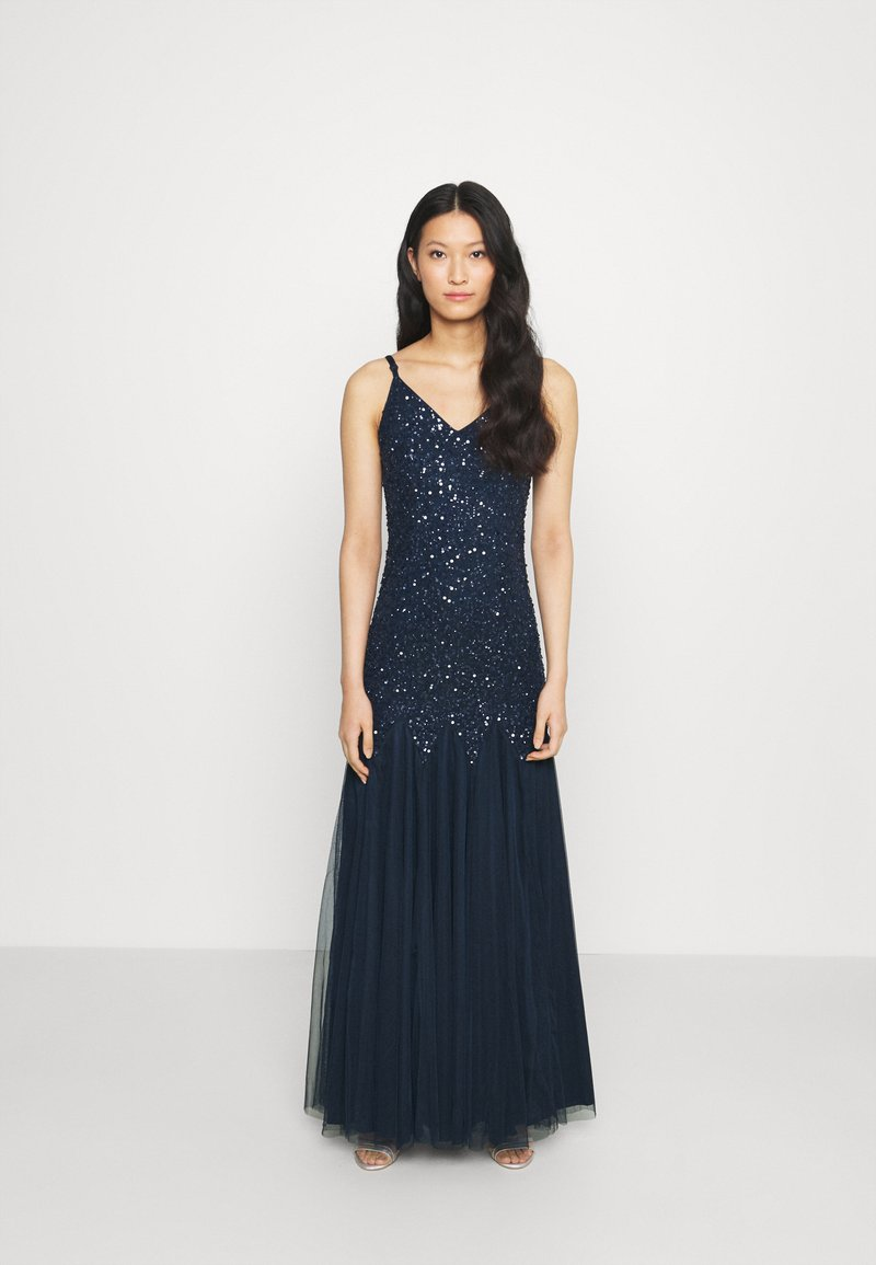 Maya Deluxe - DELICATE SEQUIN FISHTAIL MAXI DRESS - Ballkjole - navy