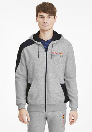 RED BULL RACING - veste en sweat zippée - light gray heather