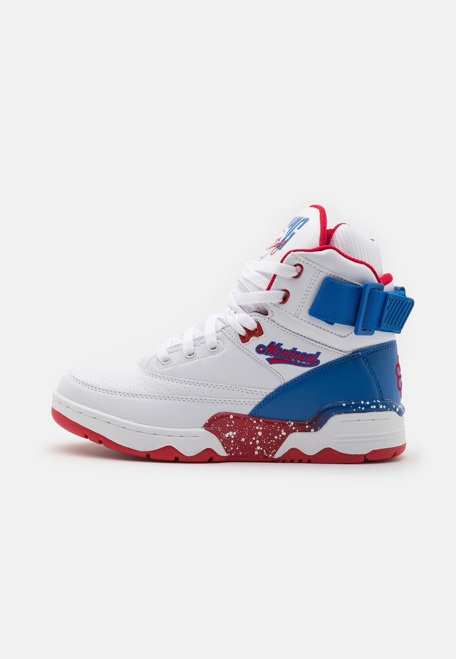 33 MONTREAL CANADA COLLABO - Sneakers alte - white/princess blue/chinese red