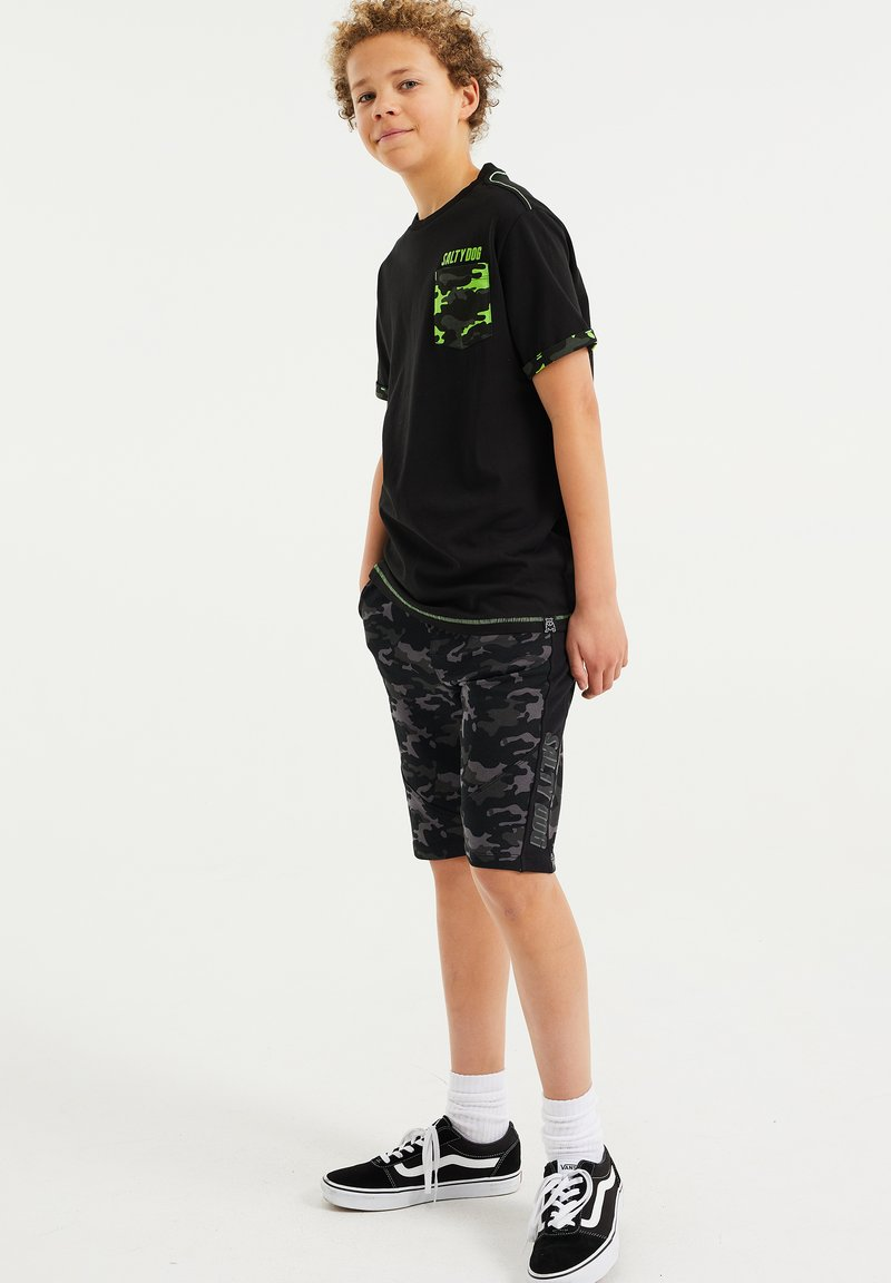 WE Fashion - MET OPDRUK - Print T-shirt - black