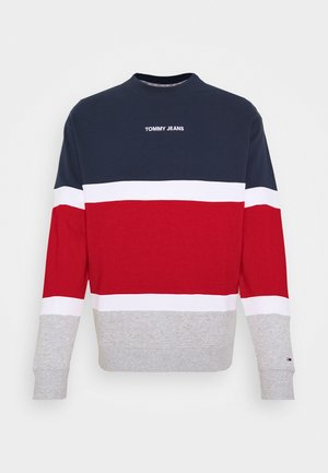 RETRO COLORBLOCK HIGH CREW - Sweater - twilight navy/multi