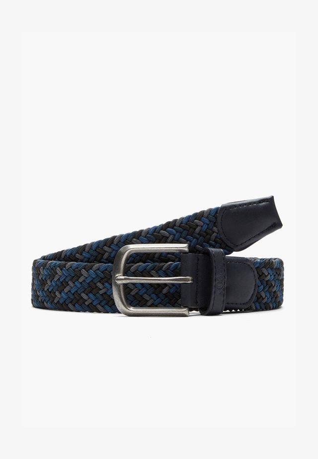 MIT DORNSCHLIESSE - Braided belt - dark blue aop
