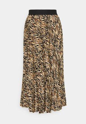 PLISSÉ SKIRT - Maxi skirt - chocolate chip