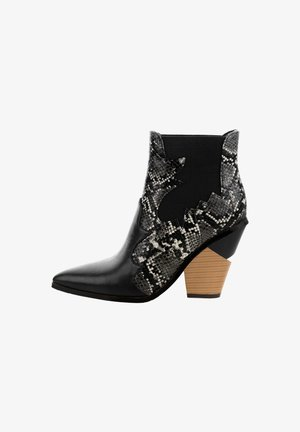 RACINES - High heeled ankle boots - black
