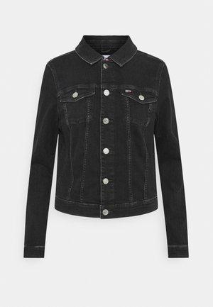 VIVIANNE SLIM TRUCK - Džínová bunda - denim black