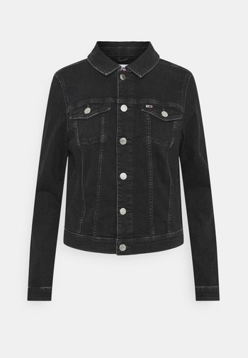 VIVIANNE SLIM TRUCK - Jeansjakke - denim black