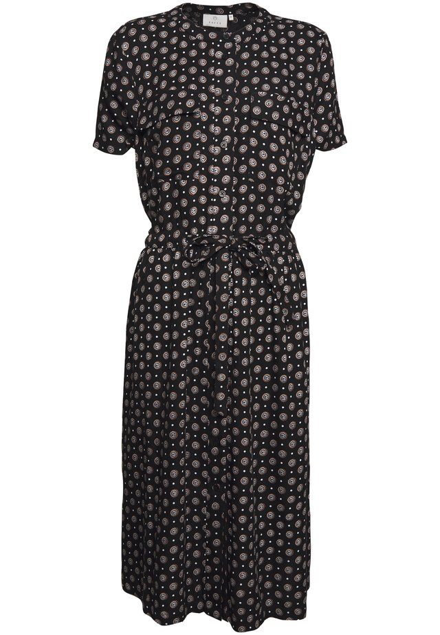 KARUTIE DRESS - Skjortekjole - black