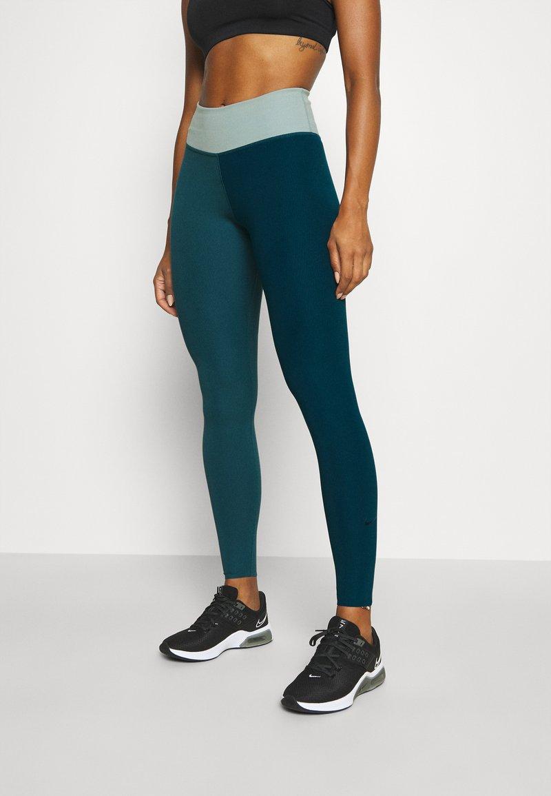 Nike Performance - ONE LUXE - Leggings - dark teal green