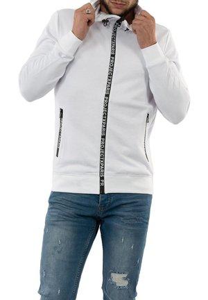 Zip-up sweatshirt - blanc