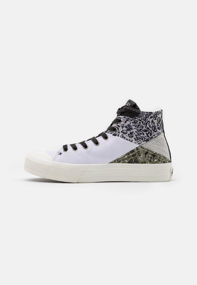 REBEL BANDANA - Sneakers hoog - white/black/green