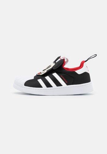 SUPERSTAR 360 UNISEX - Trainers - core black/footwear white/vivid red