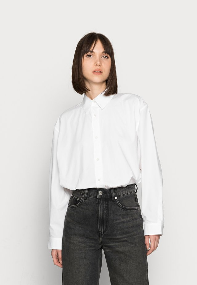 CROPPED NIGHT WASH - Džíny Straight Fit - grey