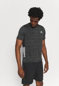 adidas Performance - OUTDOOR - T-shirt z nadrukiem - black - 0