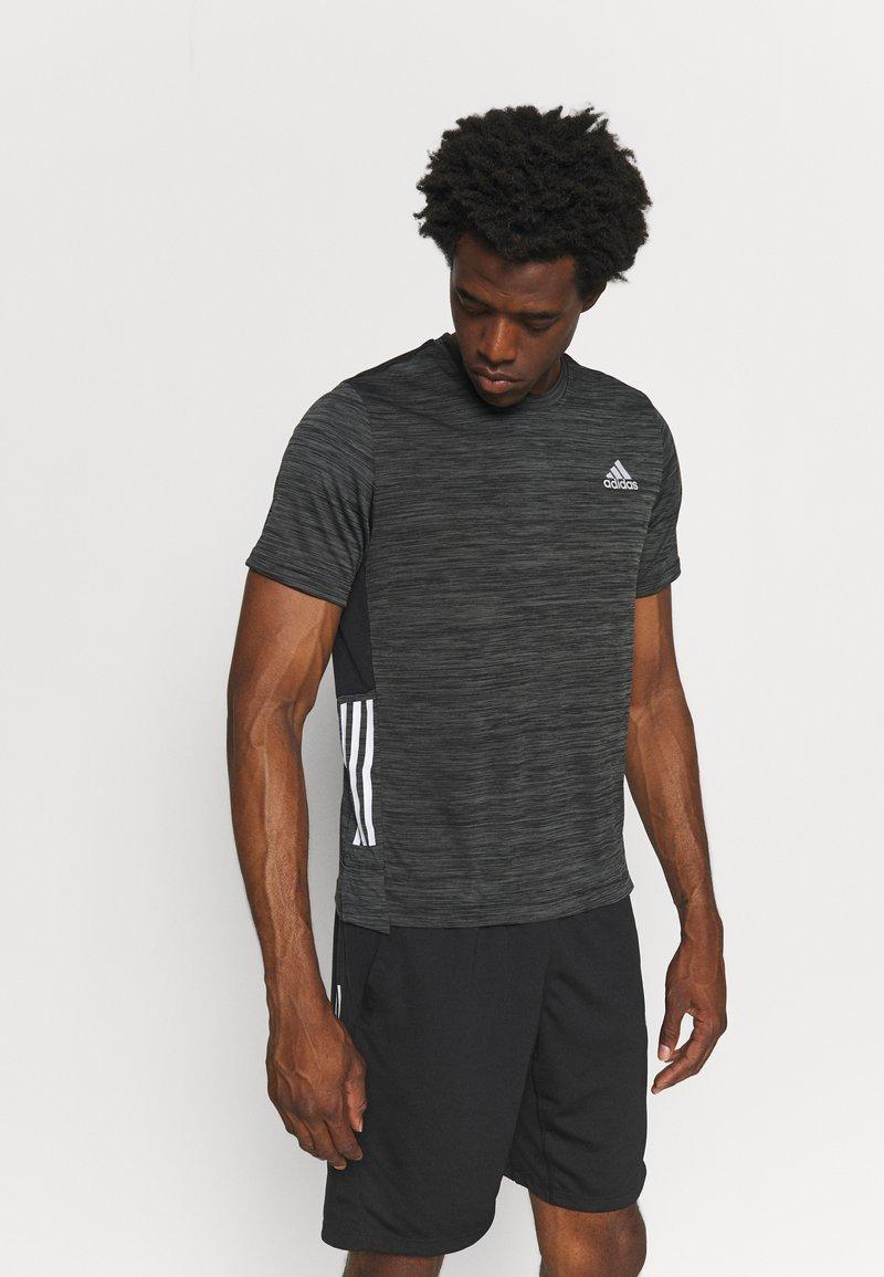 adidas Performance - OUTDOOR - T-shirt z nadrukiem - black